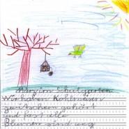 Kinder machen Bekanntschaft mit der Luft